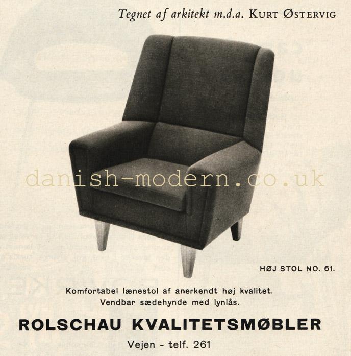 Kurt Østervig for Henry Rolschau Møbler