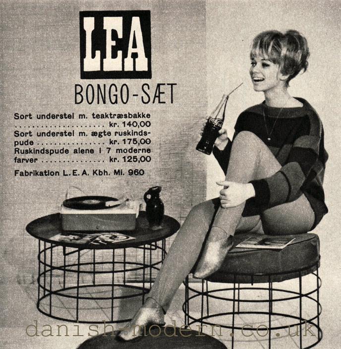 LEA Bongo stool and table set