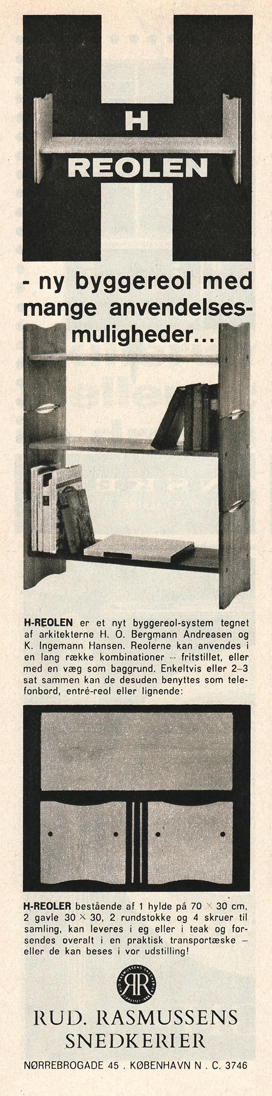 HO Bergmann Andreasen & K Ingemann Hansen for Rud Rasmussens Snedkerier