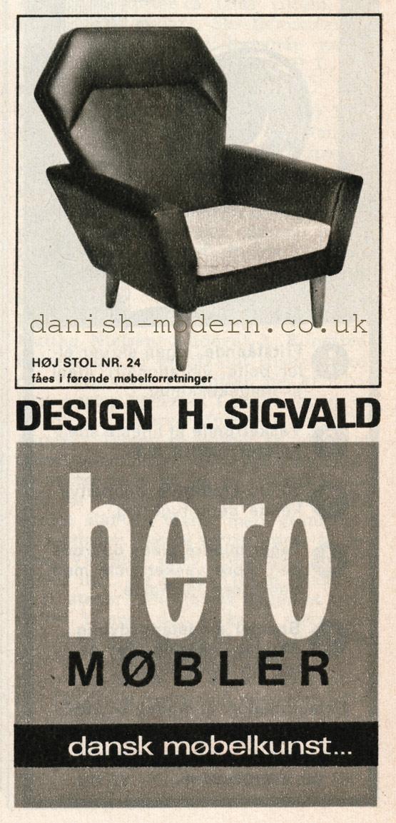 H Sigvald for Hero Møbler
