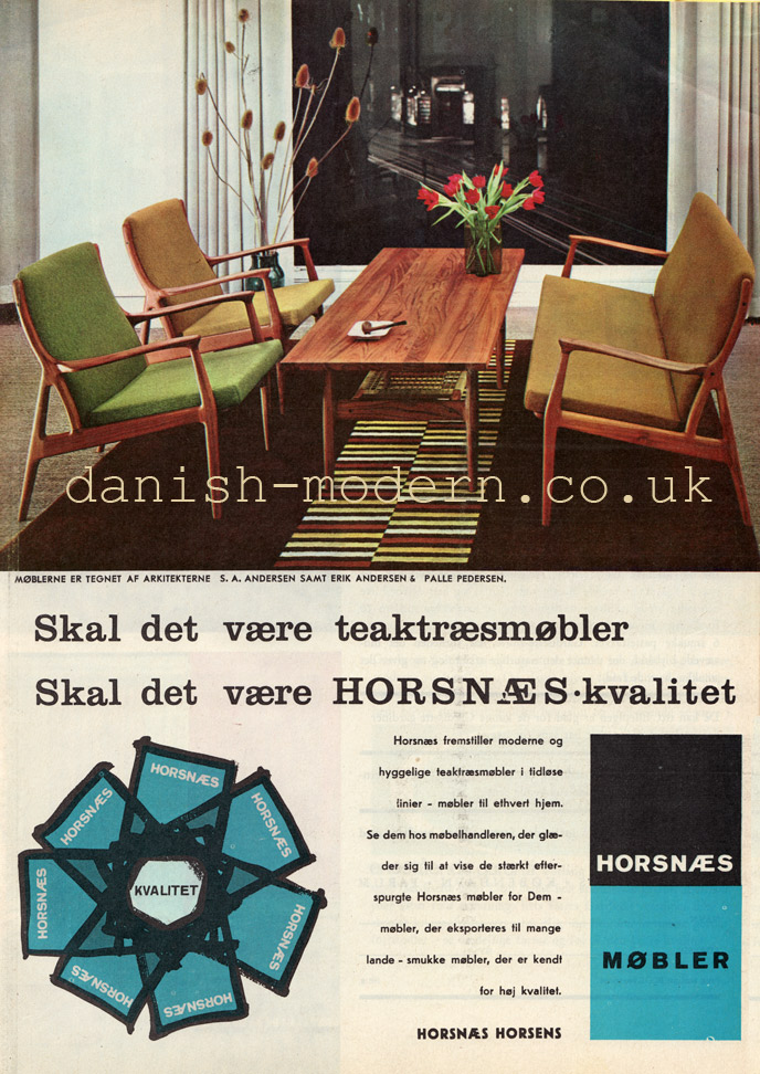 Andersen & Andersen & Palle Pedersen for Horsnaes Møbler
