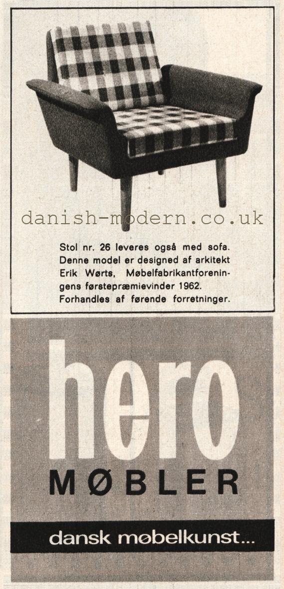 Erik Wørts for Hero Møbler