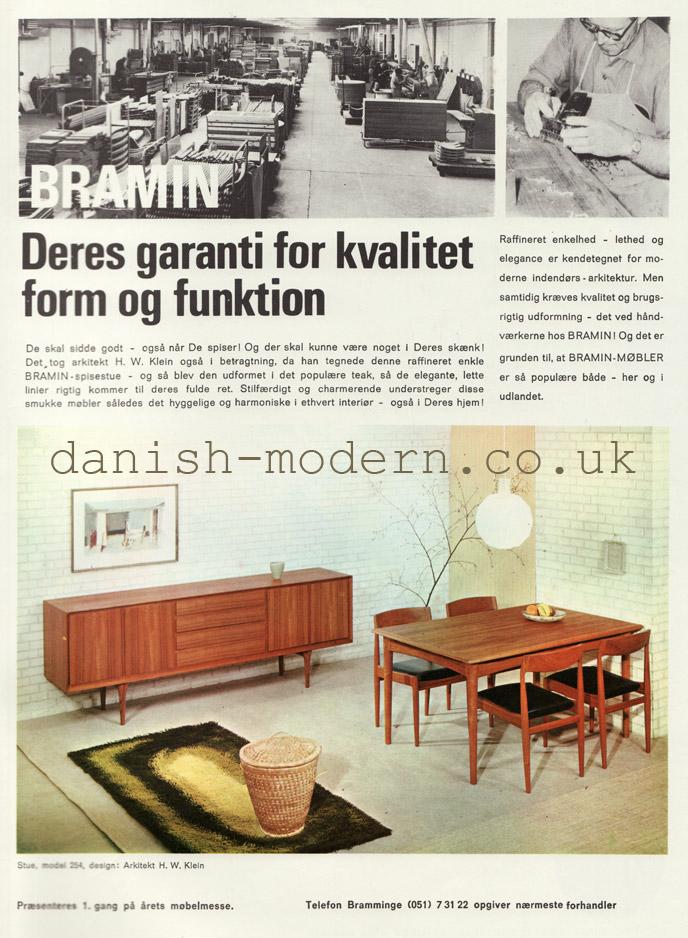 HW Klein for NA Jørgensens Møbelfabrik (Bramin): Suite 254