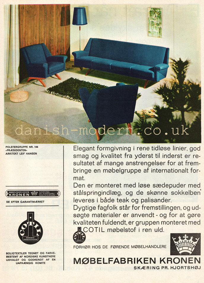 Leif Hansen for Møbelfabriken Kronen