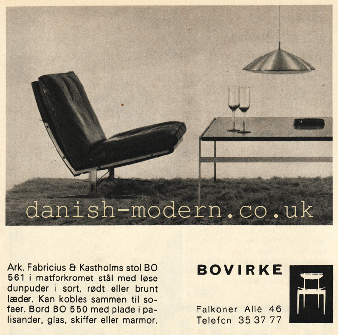 Fabricius & Kastholm at Bovirke: Bo 550, BO 561