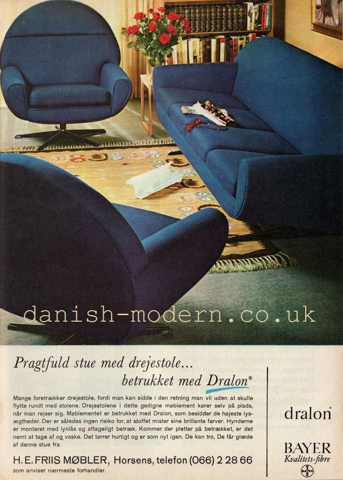 HE Friis Møbler chairs and sofa suite
