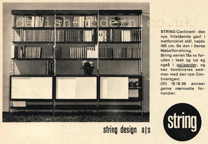 Unspecified designer for String Design: String Continent shelving