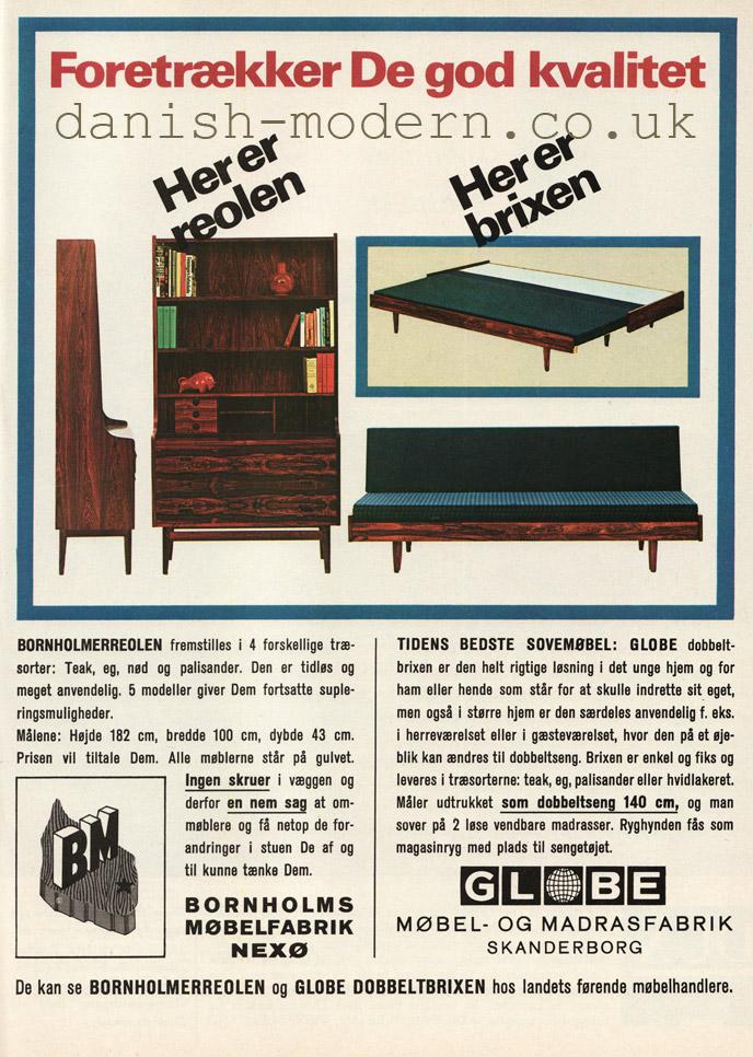 Unspecified designers for Bornholms Møbelfabrik, Globe Møbel & Madrasfabrik