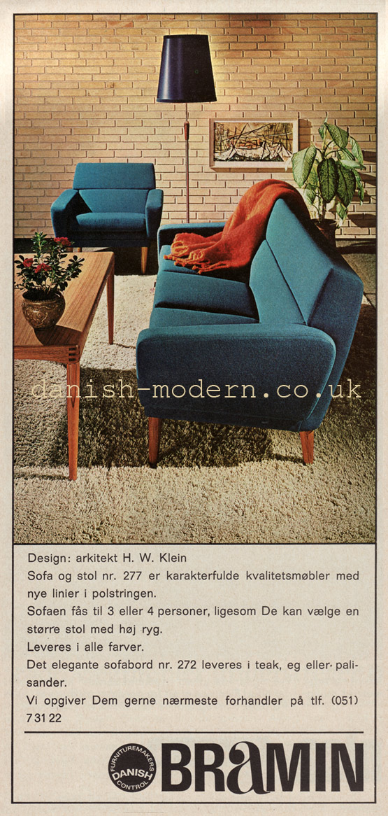HW Klein for NA Jørgensens Møbelfabrik (Bramin): 272, 277)