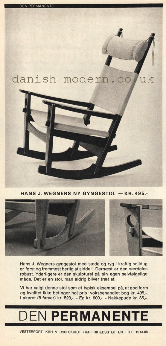 Hans J Wegner at Den Permanente: Gyngestol