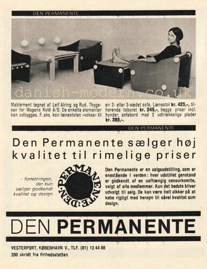 Leif Alring, Rud Thygesen for Mogens Kold Møbelfabrik at Den Permanente