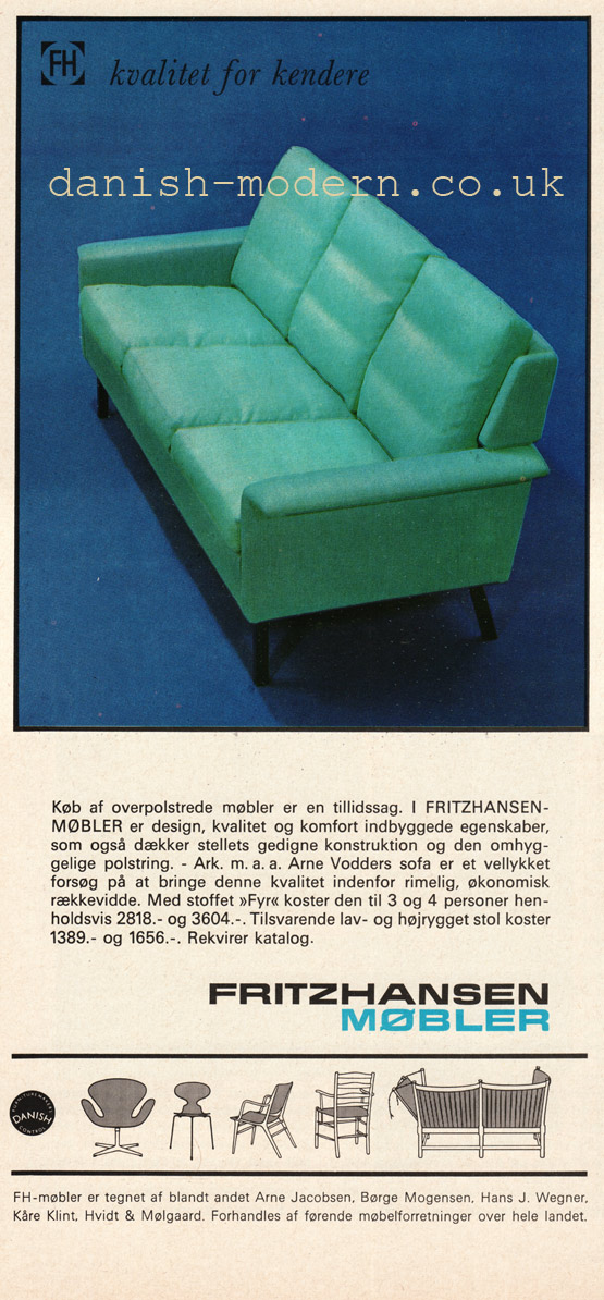 Arne Vodder for Fritz Hansen