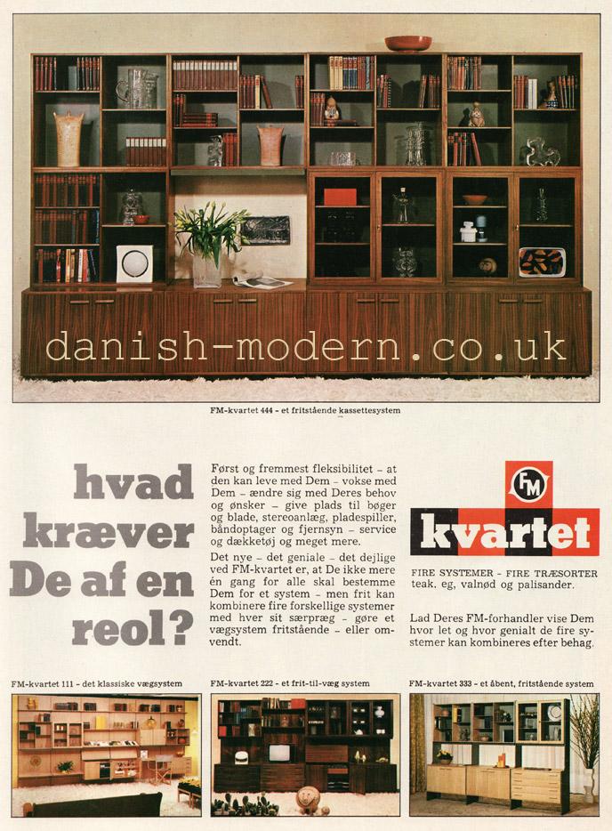 Unspecified designer for Fornem Møbelkunst (FM): FM-Kvartet 111, 222, 333, 444
