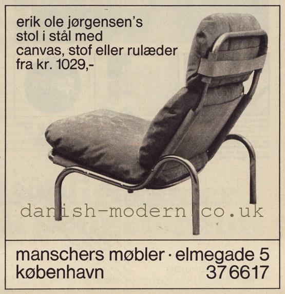 Erik Ole Jørgensen at Manschers Møbler