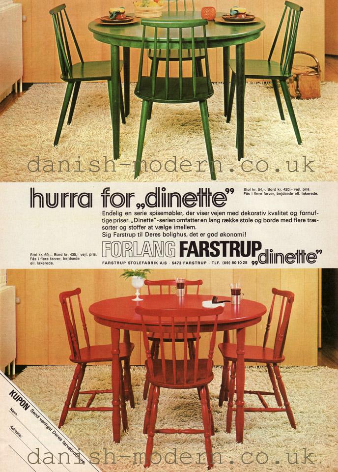 Unspecified designer for Farstrup Stolefabrik: Dinette