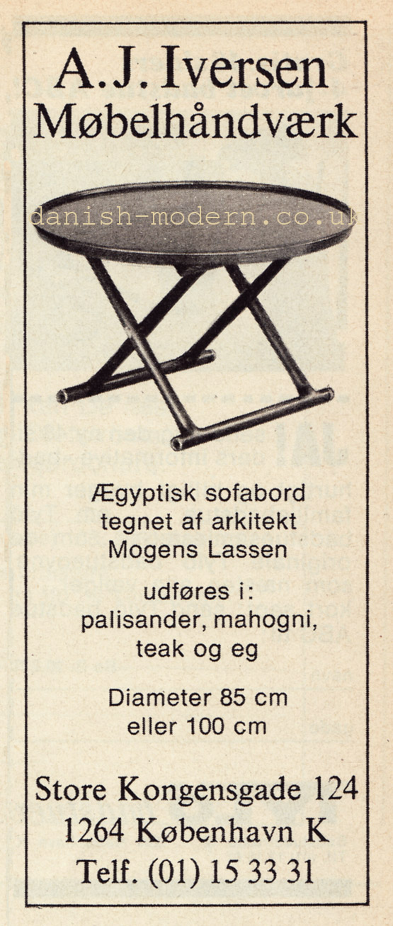 Mogens Lassen for AJ Iversen: Egyptian table