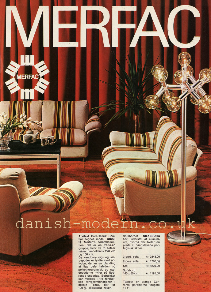 Carl-Henrik Spak, unspecified designer for Merfac: Giggi, Silkeborg