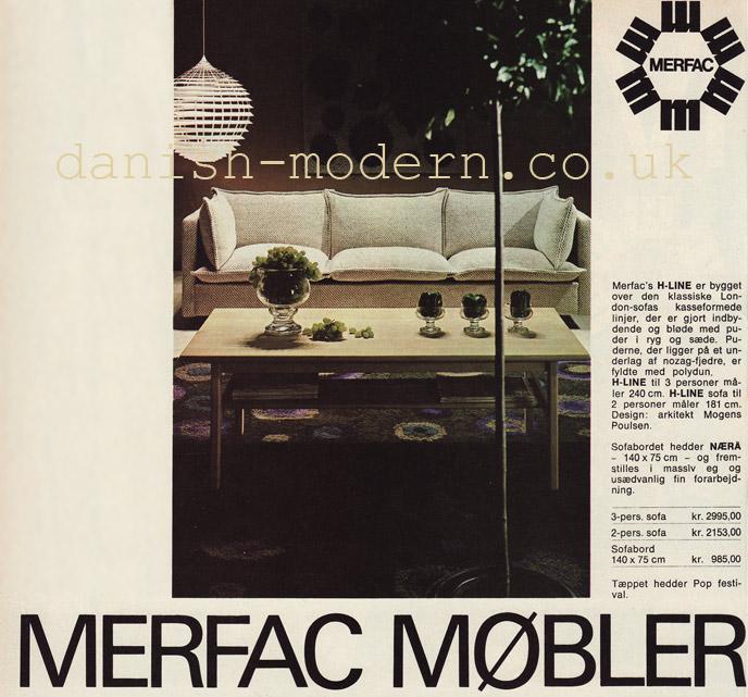 Mogens Poulsen, unspecified designer for Merfac: H-Line, Naerå