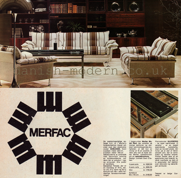 Sven Ellekaer, unspecified designers for Merfac: Merfac Modul Reol, Noblesse, Silkeborg