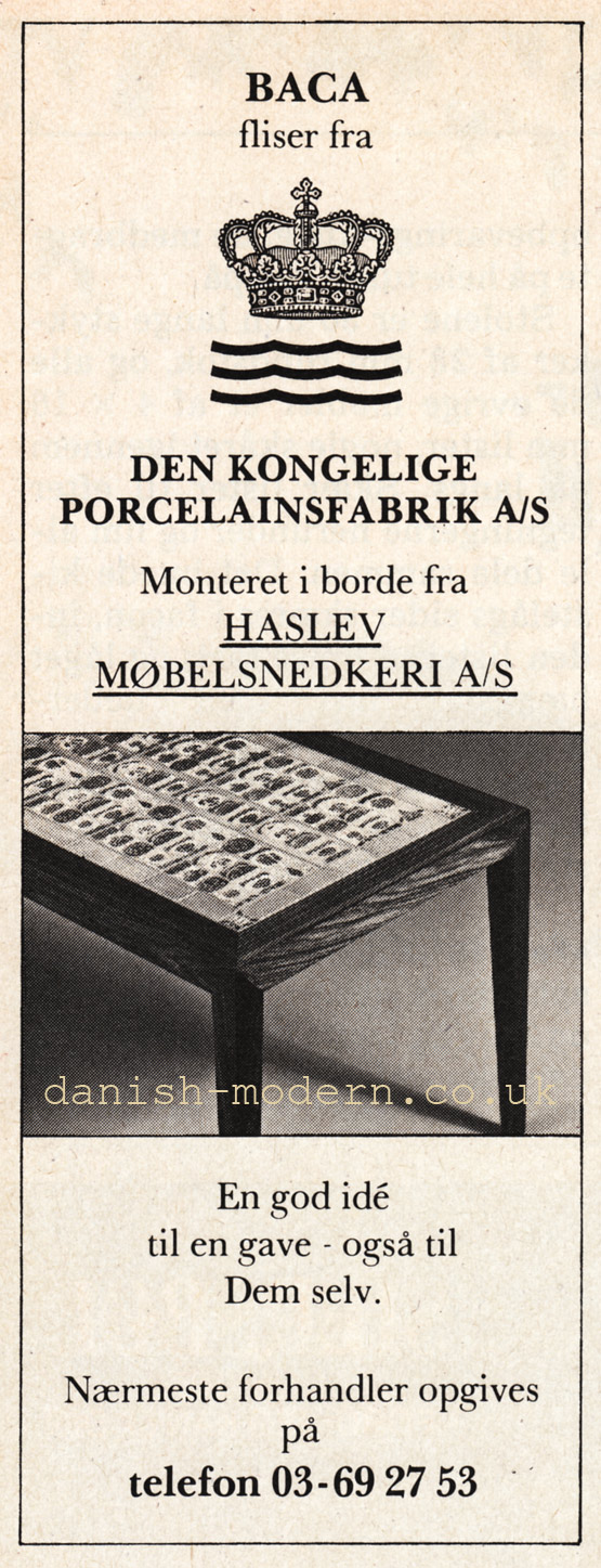 Unspecified designer for Haslev Møbelsnedkeri: Baca