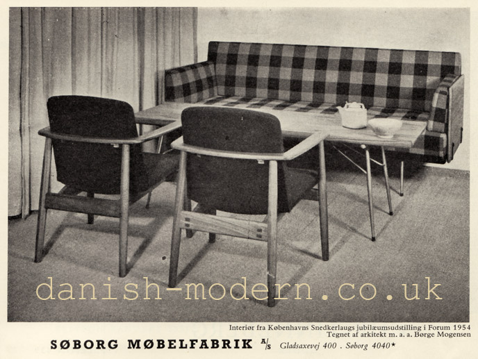 Børge Mogensen table chair sofa for Søborg Møbelfabrik