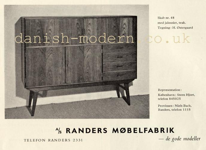 Harry Østergaard for Randers Møbelfabrik