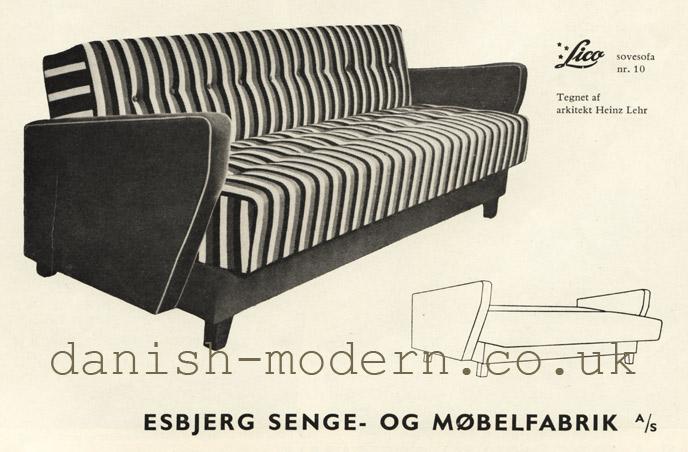 Heinz Lehr for Esbjerg Senge- & Møbelfabrik