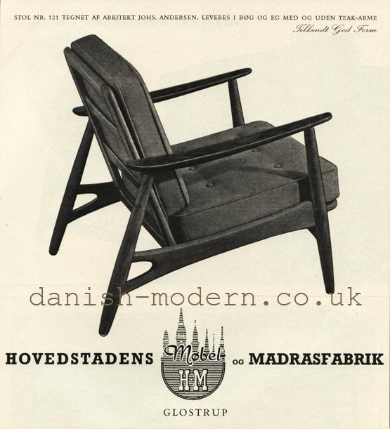 Johannes Andersen for Hovedstadens Møbel- & Madrasfabrik