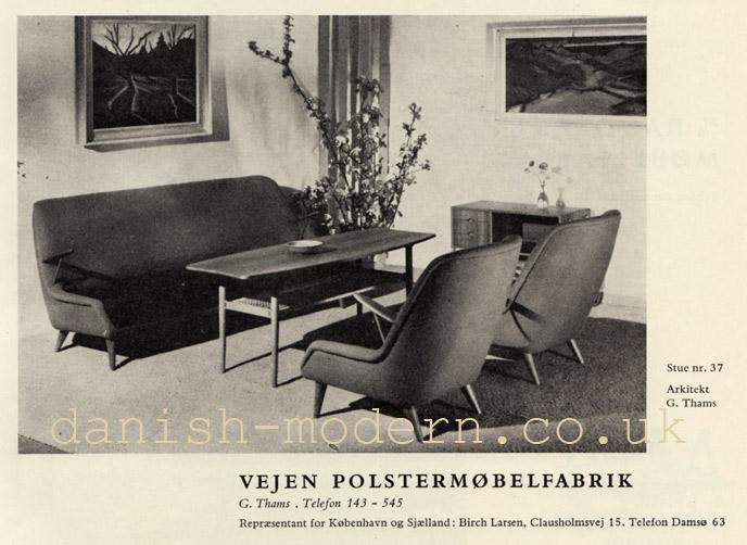G Thams for Vejen Polstermøbelfabrik
