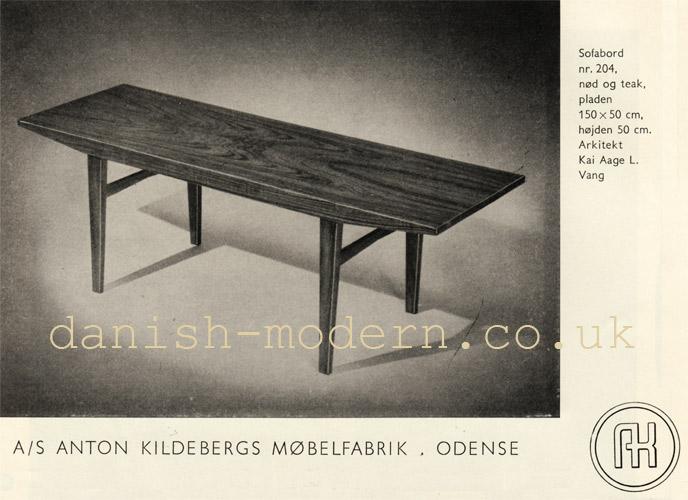 Kai Aage Lauritzen Vang for Anton Kildebergs Møbelfabrik