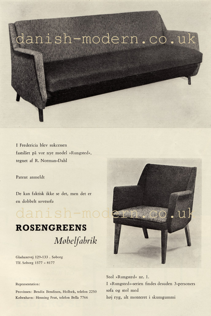 R Norman-Dahl for Rosengreens Møbelfabrik