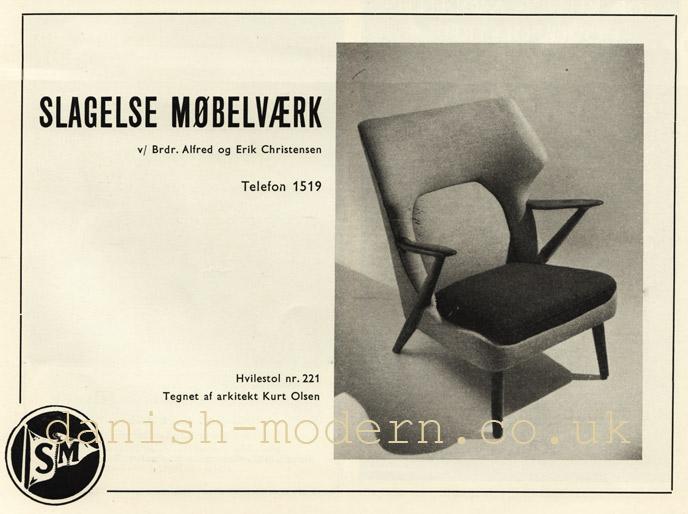 Kurt Olsen for Slagelse Møbelvaerk