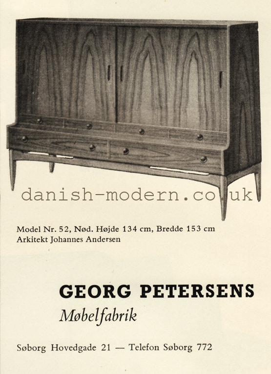 Johannes Andersen for Georg Petersens Møbelfabrik