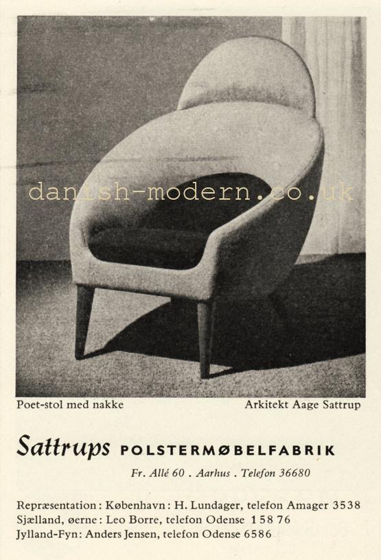 Aage Sattrup for Sattrup Polstermøbelfabrik