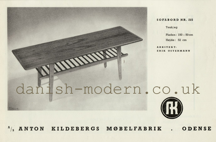 Erik Ostermann for Anton Kildebergs Møbelfabrik