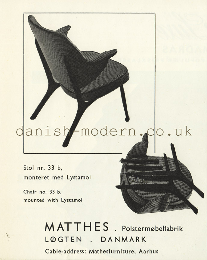 Matthes Polstermøbelfabrik chair