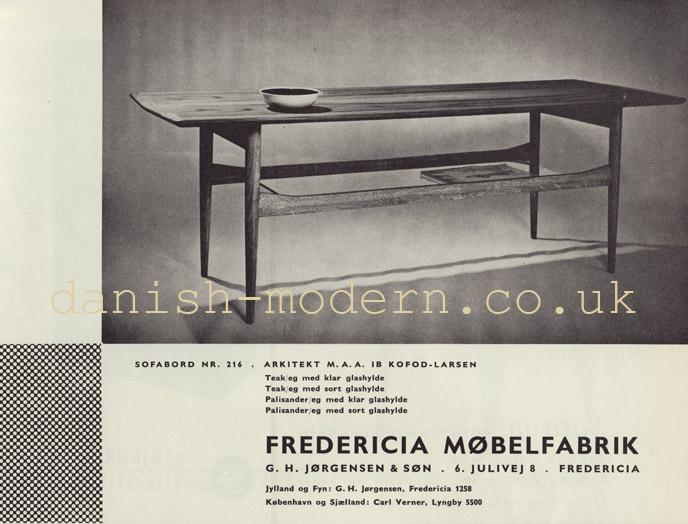 Ib Kofod-Larsen for Fredericia Møbelfabrik