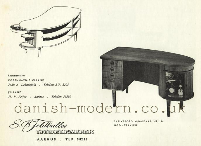 SB Feldballes Møbelfabrik writing desk