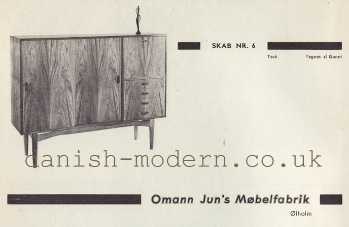 Gunni for Omann Juns Møbelfabrik