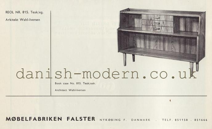 Wahl Iversen for Møbelfabriken Falster