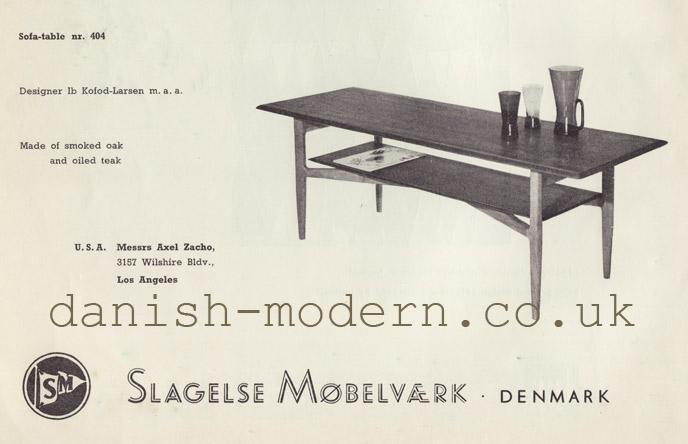 Ib Kofod-Larsen for Slagelse Møbelvaerk