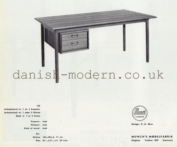 CA Skov for Munch's Møbelfabrik