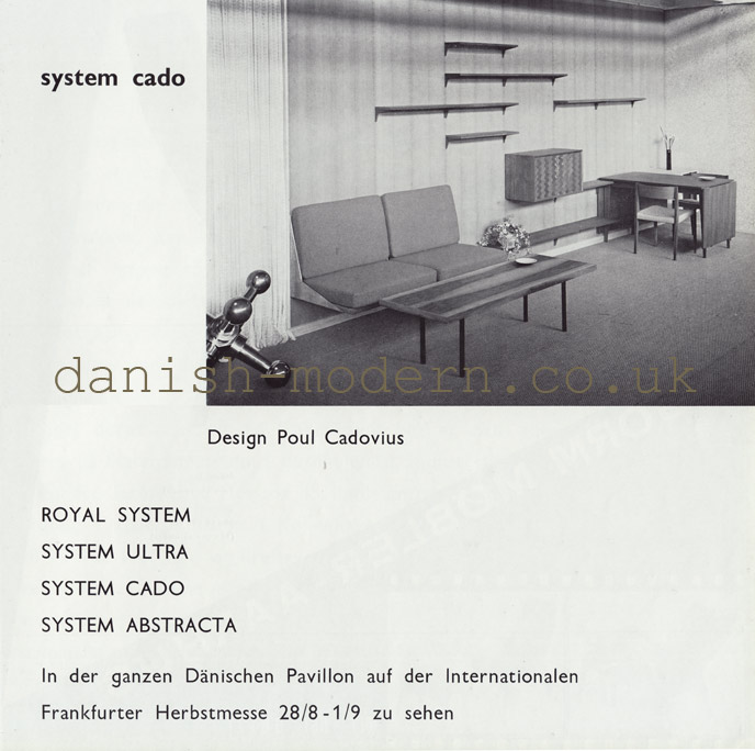 Poul Cadovius for Royal System: System Cado