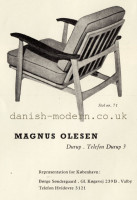 Unspecified designer for Magnus Olesen: 71 1