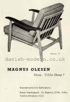 Unspecified designer for Magnus Olesen: 71