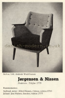 Wahl Iversen for Jørgensen & Nissen: 140 chair