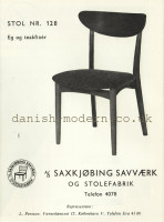 Unspecified designer for Saxkjøbing Savvaerk & Stolefabrik: 128