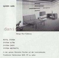 Poul Cadovius for Royal System: System Cado 1